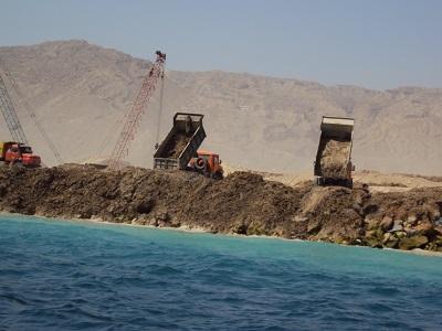 عملیات عمرانی در ساحل